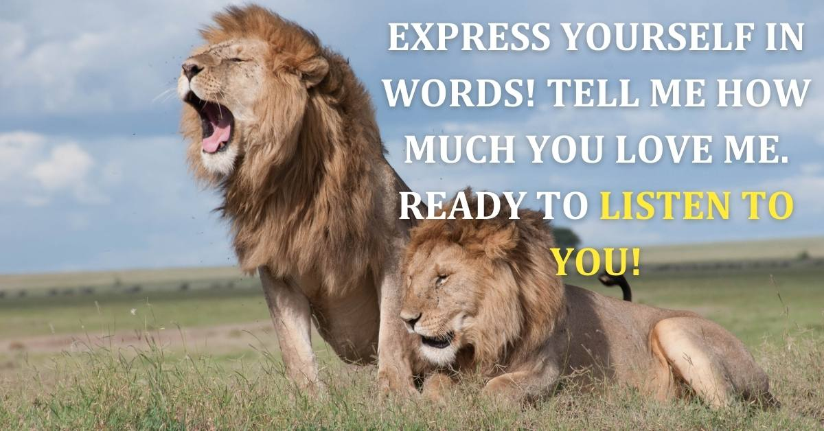 Express yourself in words! Tell me how much you love me. Ready to listen to you!