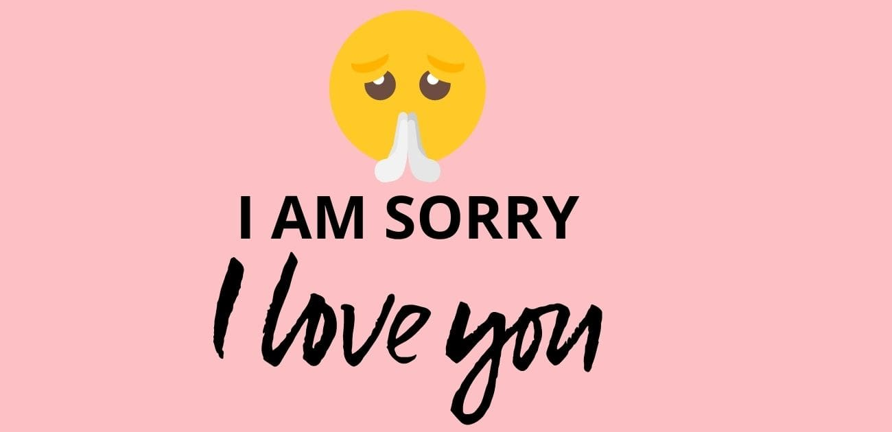 I am sorry I love you